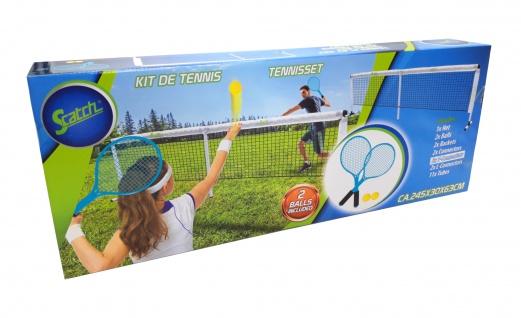 Scatch Tennis-Set Netz Tennischläger Tennisball Schläger Garten Strand Camping