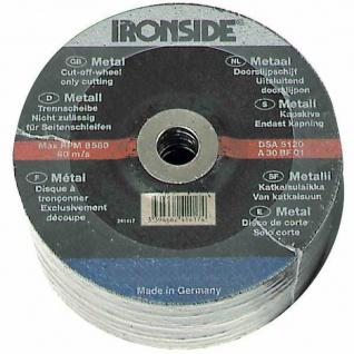 Trennscheibe für Metall 125 x 3, 0 mm gekröpft, Bohrung 22 mm
