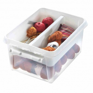 Einsatz 2 Fächer à 8l weiß SmartStore Home Box Boxen Aufbewahrung Möbel Haushalt