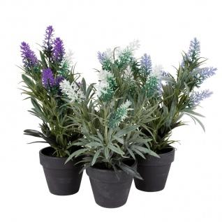 Künstlicher Lavendel im Topf 29cm Kunstblume Kunstpflanze Lavendelbusch Deko