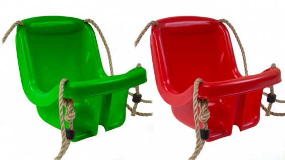 Simba Babyschaukel Swinging Baby Schaukel grün rot Kinderschaukel inkl. Seil