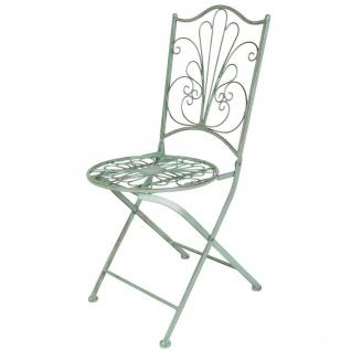 Antike Metall Klappstühle 2er-Set Gartenstuhl Balkonstuhl Metallstuhl Dekostühle - Vorschau 3