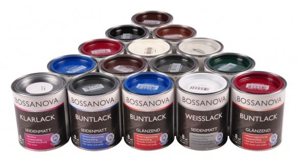 Bossanova Lack 750ml versch. Farben glänzend matt Buntlack Weißlack Klarlack