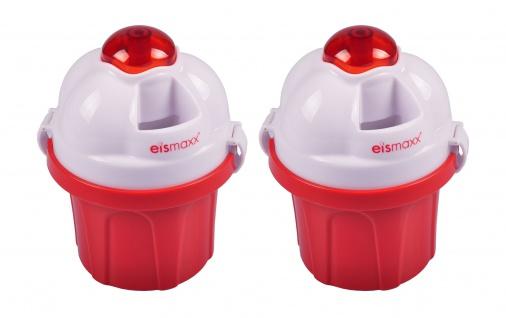 Eismaxx Eismaschine 2er-Set Eisbereiter Eiscreme Speiseeis Stieleis Pudding Eis