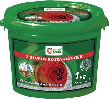 """GREEN TOWER GT Rosen-Dünger ,, 2 Stufen"""" 2 Stufen Rosenduenger .1kg Eimer"""