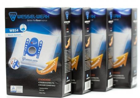 4x WBS4 Wessel-Werk 109083308 Swirl S73 Staubsaugerbeutel für Bosch und Siemens
