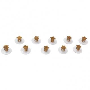 Saugnäpfe für Lichterketten Stern gold 10er-Set Saugnapf Weihnachtsdeko Sauger