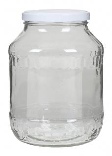 Einmachglas 1, 7 L Vorratsglas Einweckglas Konservenglas Gurkenglas Schraubdeckel