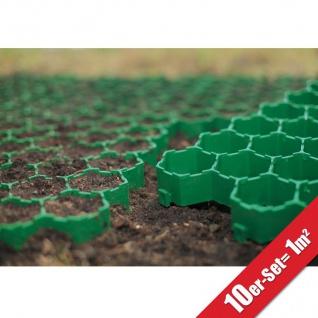 10x Rasengitterplatten 1m² Gehwegplatten Rasenwaben Rasenmatten Gitterplatten - Vorschau 1