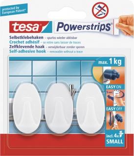 "tesa POW.STRIPS-HAKEN-MINI-OV-WEISS Haken ,, Powerstrips® Small"" 57533"