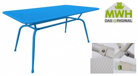 MWH-Tisch Conello 160x90x74cm blau Streckmetalltisch Gartentisch Tisch Möbel