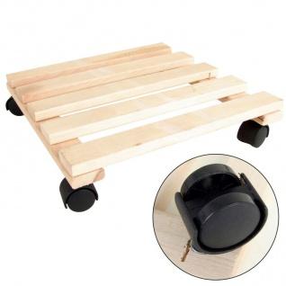 Holz-Pflanzenroller Kübelroller Blumentopf Rollbrett Transportroller Untersetzer