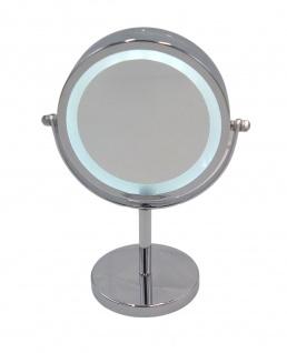 LED-Kosmetikspiegel mit Vergrößerung Schminkspiegel Badspiegel Standspiegel