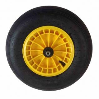 Ersatzrad gelb 400 x 100 mm für Raiffeisenkarre