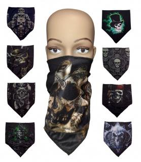 Multifunktionstuch Totenkopf Halstuch Stoffmaske Gesichtsmaske Mund- Nasenmaske