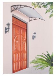 Haustür Vordach Haustürdach Pultvordach Überdachung Türdach Eingangsdach 80x120