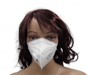 1x Faltmaske mit Ventil Mundschutz FFP2 NR EN 149:2001+A1:2009 Schutzmaske