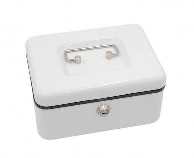 Sigma Geldkassette weiß mit Einsatz abschließbar Geldkasse Geldbox Münzkassette