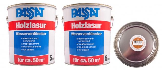 Passat Holzlasur 10 Liter Teak Lasur Holzschutz schnelltrocknend Holzfarbe außen