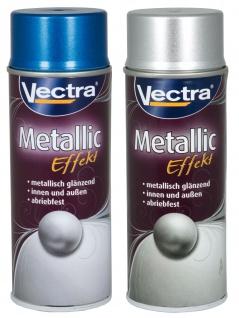 Vectra® Metallic Effekt Lackspray 400ml Farbspray Metall Sprühdose Spraydose