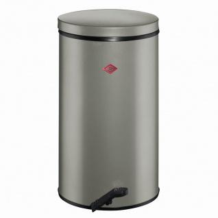 Treteimer 32l Metall neusilber Mülleimer Abfalleimer Mülltonne Abfallentsorgung