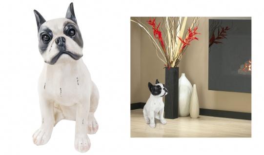 Französische Bulldogge 38cm Tierfigur Hund Dekofigur Wachhund Dog French Bulldog