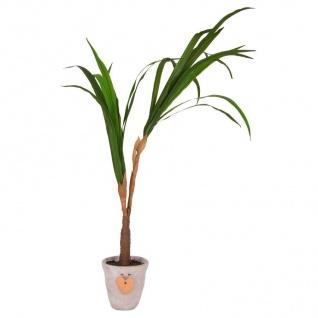 Künstliche Yucca-Palme im Topf naturgetreu Kunstpflanze Zimmerpflanze Dekoration