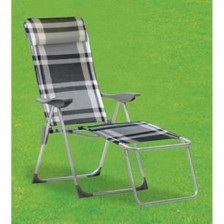 Liegesessel weiß anthrazit Relaxliege Sonnenliege Klappstuhl Gartenstuhl Stuhl
