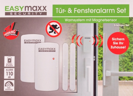 EASYmaxx Türalarm Fensteralarm + Fernbedienung Alarmanlage Warnsystem Melder