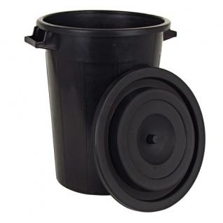 Universaltonne 100L schwarz +Deckel Regentonne Abfallbehälter Müllbehälter Tonne