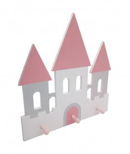 Kinder-Garderobe Prinzessin Schloss Wandgarderobe Garderobenleiste Kleiderhaken
