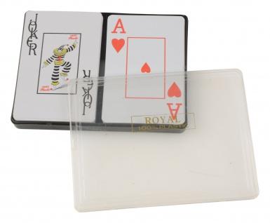 Pokerkarten aus Plastik 2x 54 Karten Spielkartenset Poker Kartenspiel