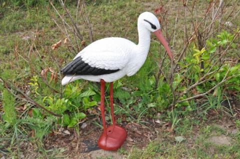 Storch aus Kunststoff Gartenfigur - Vorschau 2