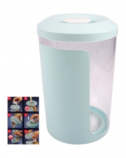 Keeeper Cerealienbox Antonio 5L aqua mit Trichter Frischhaltedose Vorratsdose
