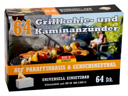 Kohleanzünder 64 Stück Grillkohleanzünder Kaminanzünder Ofenanzünder Zündhilfe