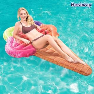 Bestway Luftmatratze Waffeleis Schwimmmatratze Wasserliege Eiswaffel Eistüte