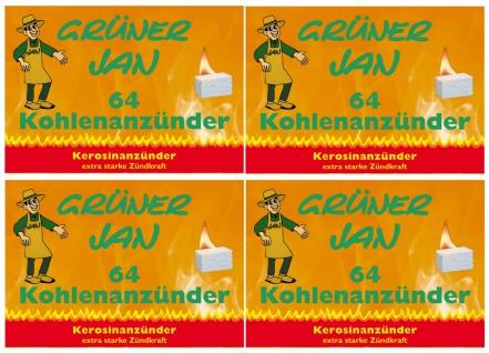Grüner Jan Kohleanzünder 4er-Pack Grillkohleanzünder Kaminanzünder Ofenanzünder