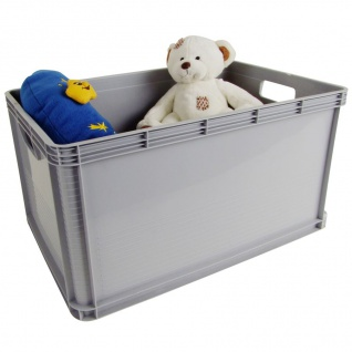 Robusto Stapelbox 64 L Aufbewahrungsbox Transportkiste Lagerkiste Spielzeugkiste