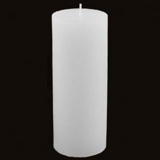Stumpenkerze Rustika Weiß 70x180mm Blockkerze Weihnachtskerze Adventskerze Kerze