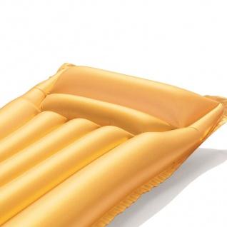 Bestway Luftmatratze Gold Schwimmmatratze Wasserliege Luftbett Gästebett Camping - Vorschau 3