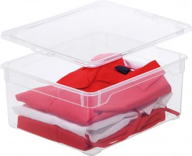 "rotho ROT Aufbewahrungsboxen ,, Clear Box"" 1708400096 Clear Box Sweater 18l"
