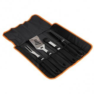 Miyako Grillbesteck 4-teilig mit Tragetasche aus Edelstahl Besteckset Grillzange - Vorschau 2