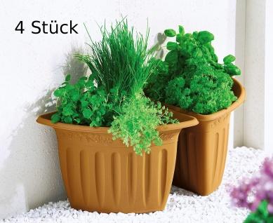 4er Set Eck Blumenkübel Vario Ecktopf Übertopf Pflanztopf Blumentopf terrakotta