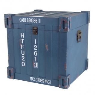 Truhen-Set 3tlg. Container Design Aufbewahrungskiste Holzkisten Dekokisten Truhe - Vorschau 4