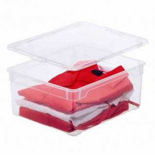 "Aufbewahrungsbox "" Clear Box"" 9 l mit Deckel, 40 x 33, 5 x 8, 5 cm"