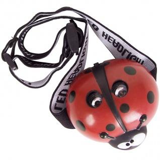 LED-Kopflampe Marienkäfer Kinderlampe Stirnlampe Taschenlampe Fahrradhelmlampe