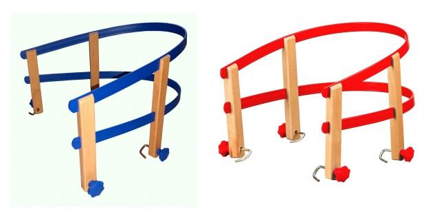 Colint Schlittenlehne aus Kunststoff und Holz Rückenlehne Schlitten Kindersitz