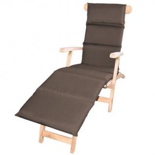Polster-Auflage für Sonnenliege mit Kopfkissen Rollstepp-Deckchair Gartenliege
