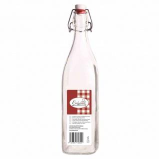 """Bügelflasche """" Swing"""" vierkant 1000 ml mit Bügelverschluss"""