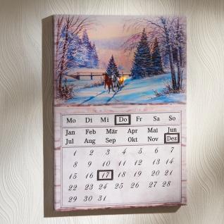 Ewiger LED-Kalender Winterlandschaft Dauerkalender Wandkalender 2022 Dekoration